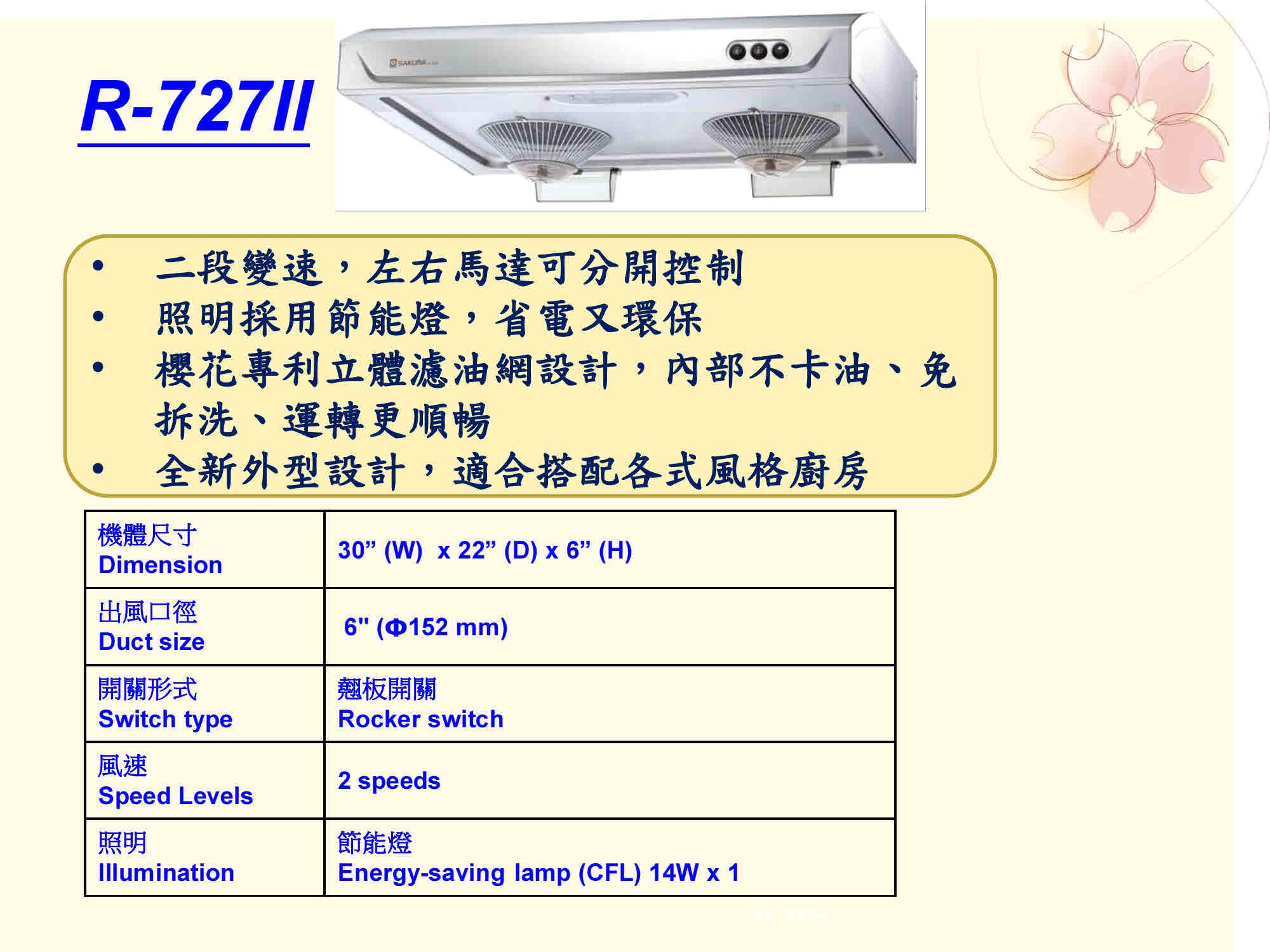Sakura Model R727